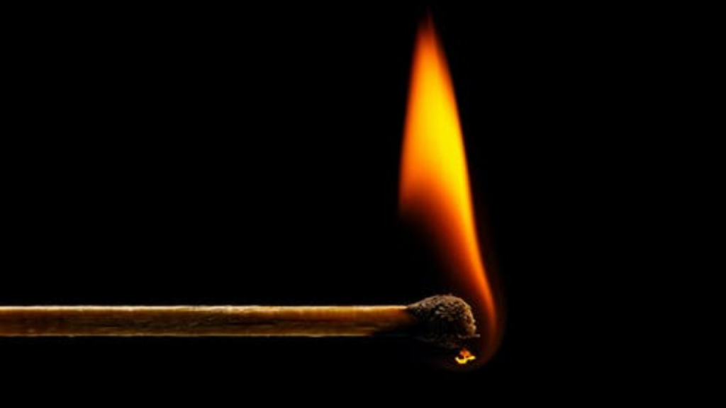 how to light a fire with a match
